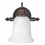 Customary Styled 1 Light Vanity Lighting in Dark Brown by Yosemite Home Decor