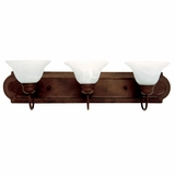 Customary Styled 3 Light Vanity Lighting in Dark Brown by Yosemite Home Decor