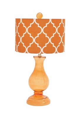 Customary Styled Attractive Glass Table Lamp by Woodland Import