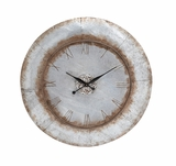 Customary Styled Attractive Metal Wall Clock by Woodland Import