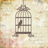 Customary Styled Caged Whimsy I Painting by Yosemite Home Decor