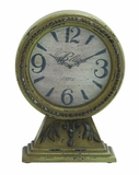 Customary Styled Chinese Wood Table Clock by Woodland Import