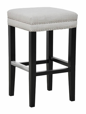 Customary Styled Collina Backless Bar Stool - Ivory