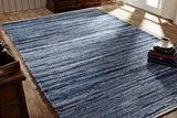 Customary Styled Denim & Hemp Chindi/Rag Rug Rect by VHC Brands