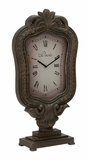 Customary Styled Elegant Styled Wood Table Clock by Woodland Import