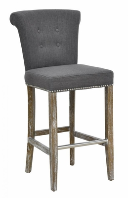 Customary Styled Fancy Vincente Barstool - Grey