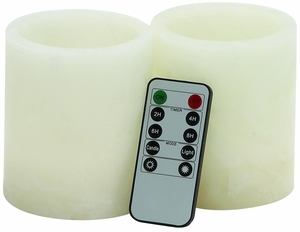 Customary Styled Led Flameless Candler Remote Set by Woodland Import
