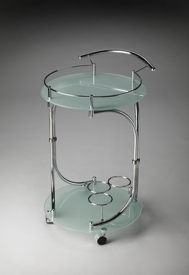 Customary Styled Lola Modern Serving Cart by Butler Specialty