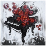 Customary Styled Melody of Roses Painting by Yosemite Home Decor