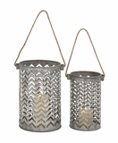 Customary Styled Metal Lantern by Woodland Import