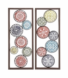 Customary Styled Metal Wall Decor 2 Assorted by Woodland Import
