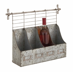 Customary Styled Metal Wall Rack by Woodland Import