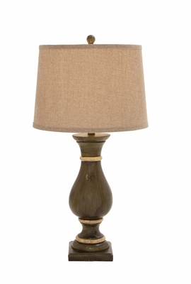 Customary Styled Polystone Table Lamp by Woodland Import
