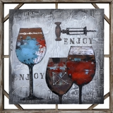 Customary Styled Red Luscious II Classy Painting by Yosemite Home Decor