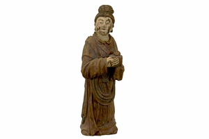 Customary Styled Resin Standing Monk Statues
