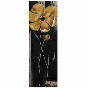 Customary Styled Yellow Star Bloom II Painting by Yosemite Home Decor