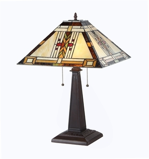 Customary Tiffany - Styled Attractive Mission Table Lamp by Chloe Lighting