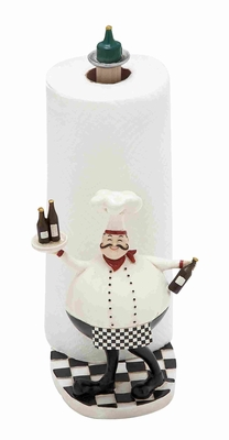 "Cute and Adorable 10"" Polystone Chef in White and Black Brand Woodland"