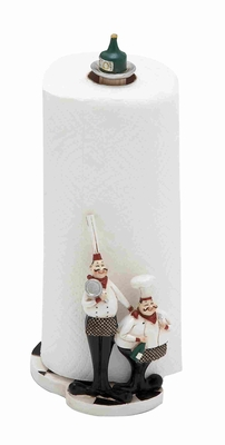 "Cute and Adorable 13"" Polystone Chef in White and Black Brand Woodland"
