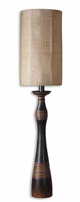 Dafina Black Buffet Lamp with Copper Bronze Undertone Brand Uttermost