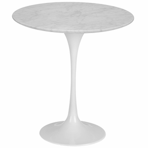 Daisy 20, Marble Side Table in White Base