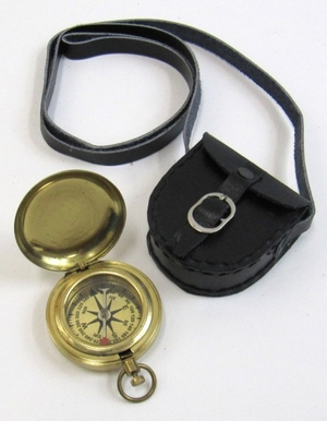 Daley Compass Brass With Leather Case Admired For Its Beauty Brand IOTC