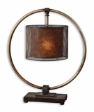 Dalou Hanging Shade Table Lamp with Rottenstone Glaze Brand Uttermost