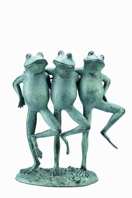 Dancing Frog Trio With Three Frogs Making The Decor Aquatic Brand SPI-HOME