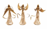 Dancing Golden Angels 3 Assorted Holiday Decor