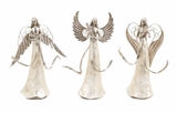 Dancing Silver Angels 3 Assorted Holiday Decor