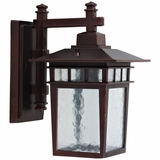 Dante Collection Classy 1 Light Exterior Light Wall Mount in Oil Rubbed Bronze by Yosemite Home Decor
