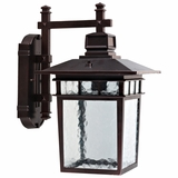 Dante Collection Creative Styled 1 Light Exterior Light Wall Mount in Oil Rubbed Bronze by Yosemite Home Decor