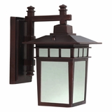 Dante Collection Customary Styled 1 Light Exterior Light Wall Mountin Oil Rubbed Bronze by Yosemite Home Decor