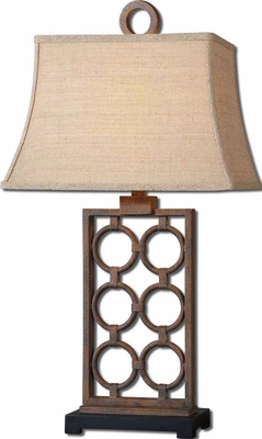 Dardenne Bronze Table Lamp with Forged Metal Finish Brand Uttermost