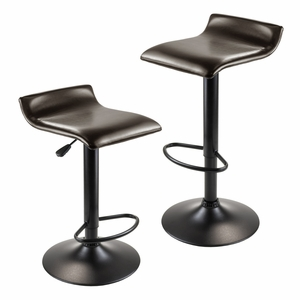 Dark Espresso Attractive Paris Set of Two Airlift Stools by Winsome Woods