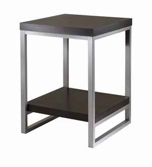 Dark Espresso Elegant Occasional Jared End Table by Winsome Woods