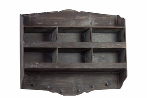 Dark Mystic Wooden Wall Hanger with Small Compartments
