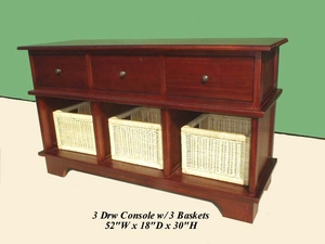 Daruvar Three Basket Console, Royal And Elaborate World-class Creation by D-Art