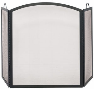 Dazzling 3 Fold Black Wrought Iron Arch Top Medium Screen