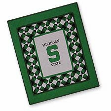 Dazzling Quilted Throws with the Michigan State University Logo Brand C&F
