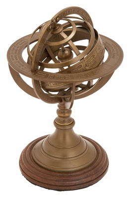 Decorative Armillary With Fine Marked Multiple Ring Plates Brand Woodland