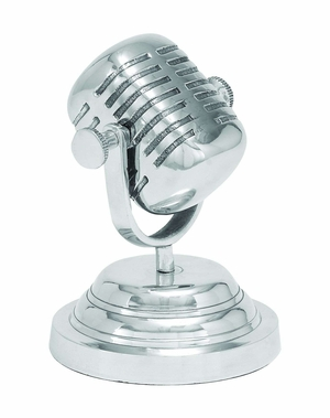 Decorative Casual Aluminum Microphone Vintage Look Brand Woodland