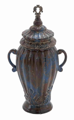 "Decorative Ceramic 23""H Jar Decor for Traditional Home with Lid Brand Woodland"