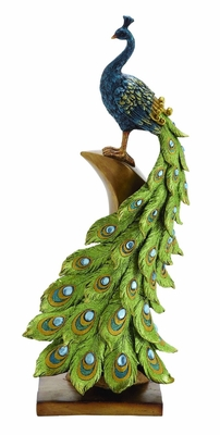 Decorative Elegant Peacock Styled Home Decor Brand Benzara