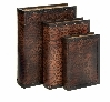 Decorative Leopard Print Leather Faux Book Box - Set of 3 Brand Woodland