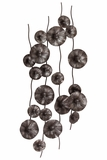 Decorative Metal Pod Wall Decor in Antique Black Large