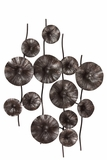 Decorative Metal Pod Wall Decor in Antique Black Small