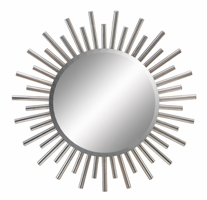 Decorative Metal Wall Mirror, Sunburst Metal Wall Decor, 28 Inch Dia Brand Woodland