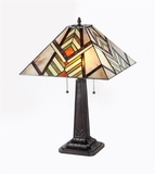 Decorative Patterned Mission Table Lamp by Chloe Lighting