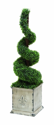 "Decorative Polyester Spiral Shape Boxwood (52"" H x 12"" W) Brand Woodland"